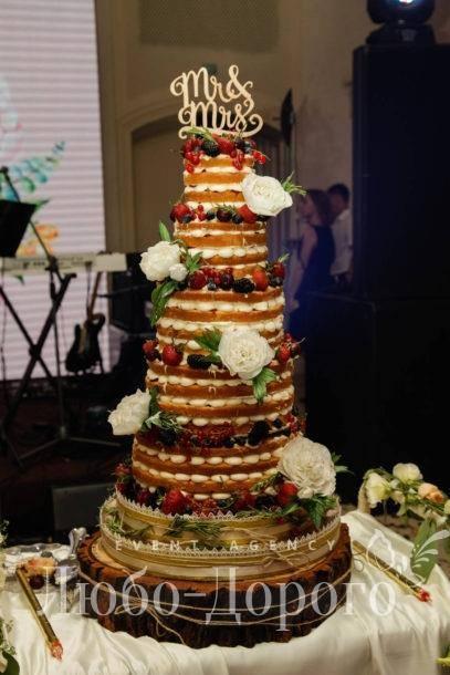 """Открытый торт для свадьбы от """"Любо-Дорого"""""""