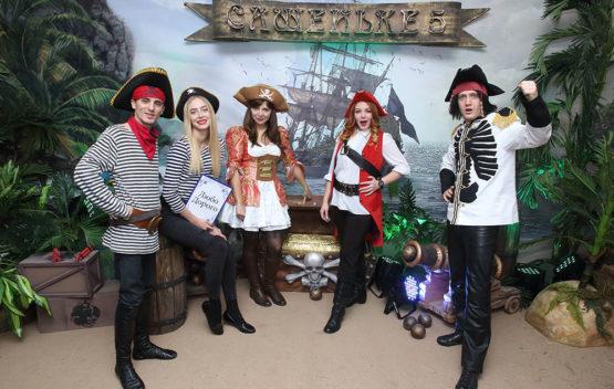 Титульная День рождения в пиратском стиле